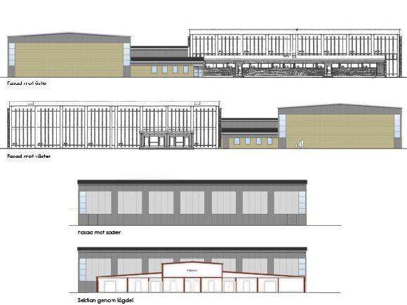 Attarpshallen - fasader