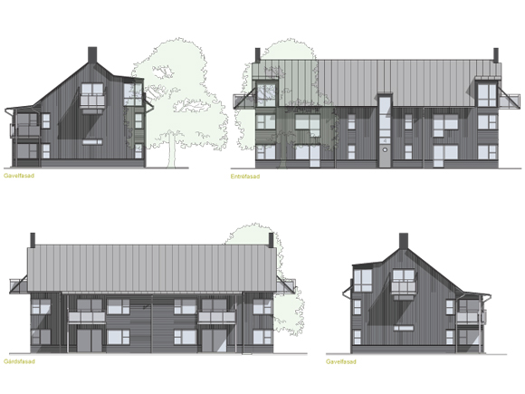 Fasader hus 5 och 6